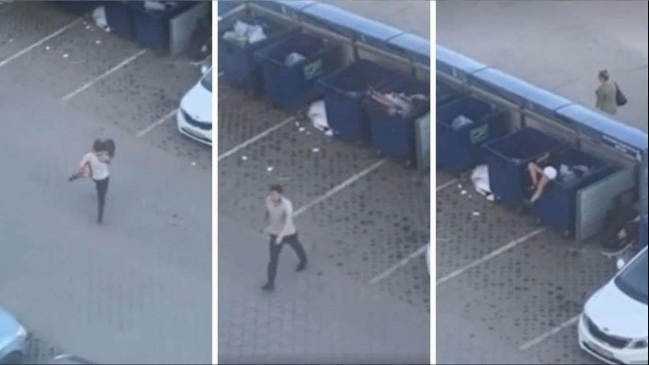 Chàng trai tức giận ném luôn cô bạn gái vào thùng rác vì lý do bất ngờ