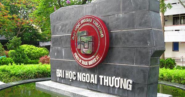 Trường ĐH Ngoại Thương công bố điểm trúng tuyển đại học chính quy theo phương thức xét tuyển 3