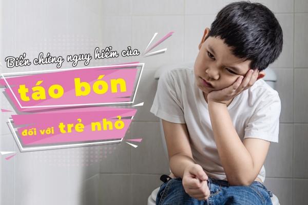 Biến chứng nguy hiểm của táo bón đối với trẻ nhỏ
