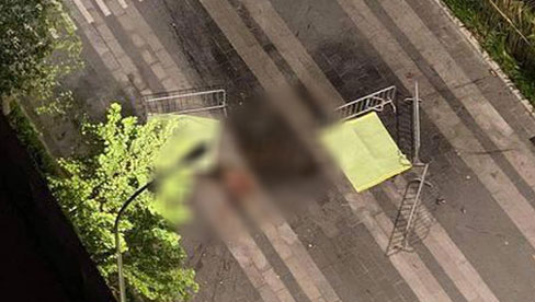 """Đôi nam nữ nhảy từ tầng 35 xuống đường, để lại mảnh giấy """"We are not die"""""""