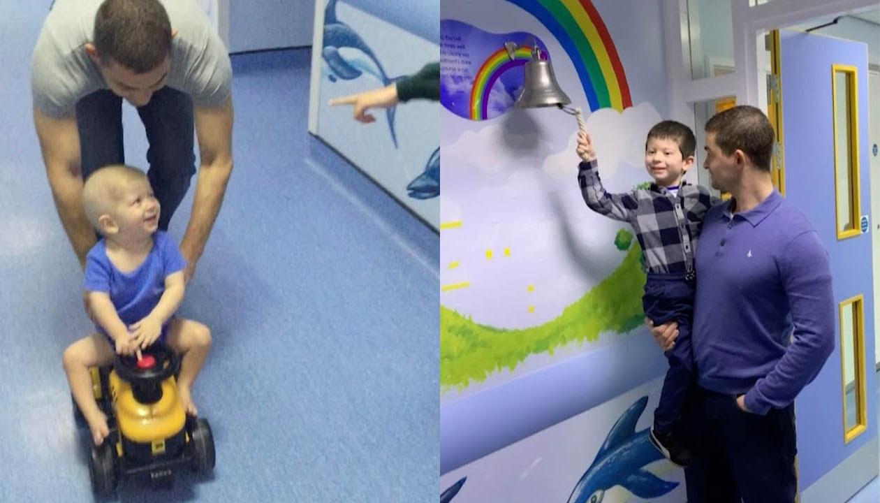 Cậu bé rung chuông để xuất viện sau 3 năm điều trị ung thư máu