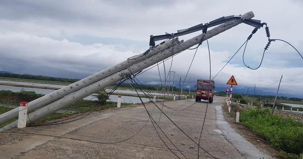 Khẩn trương xử lý sự cố lưới điện do ảnh hưởng bão số 5