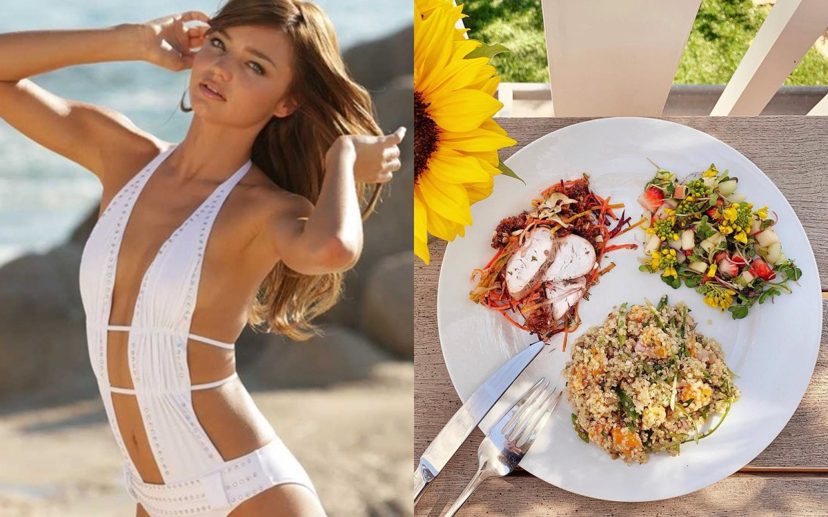 Để giảm cân hiệu quả và da dẻ hồng hào, bạn cứ học Miranda Kerr hay Kate Upton ăn salad mỗi ngày