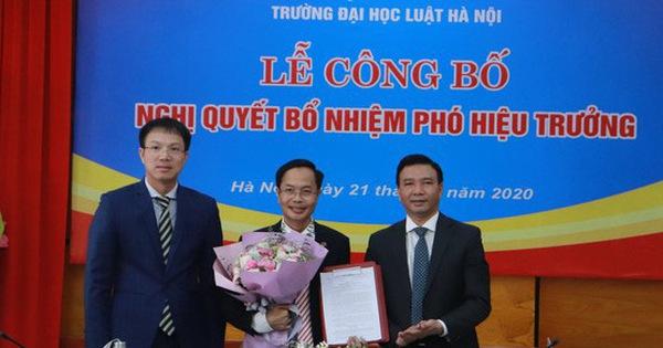 Bổ nhiệm Phó Hiệu trưởng Đại học Luật Hà Nội