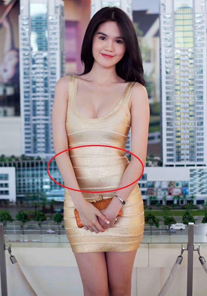 Cùng diện váy bó, 9 năm trước Ngọc Trinh lộ mỡ bụng muối mặt, giờ dáng nuột đến độ chẳng cần photoshop-6