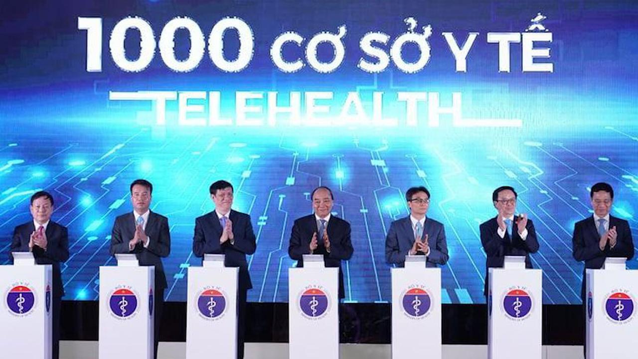 Thủ tướng dự lễ công bố 1000 điểm cầu khám chữa bệnh từ xa