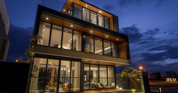 Màn trình diễn ánh sáng tuyệt đẹp tại villa siêu sang bên sông Cổ Cò