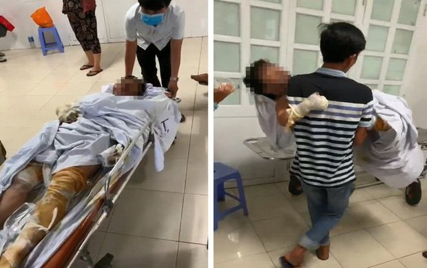 Tiếng khóc xé lòng của bé trai 3 tuổi bị bỏng nặng trong vụ đốt nhà vì mâu thuẫn: Bà ngoại ơi... cứu con-1