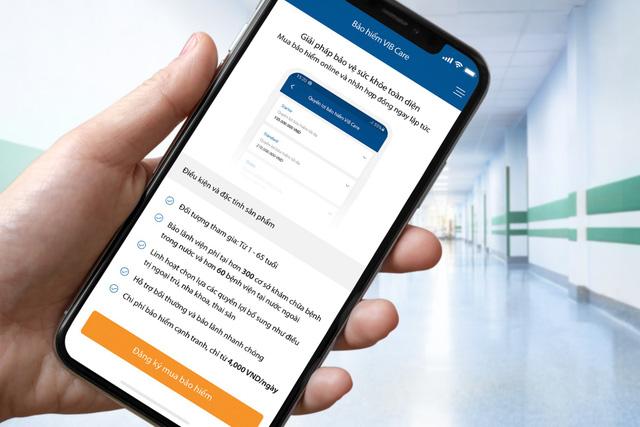 VIB: Lần đầu tiên trên nền tảng ứng dụng Ngân hàng số, khách hàng có thể mua Bảo hiểm sức khỏe toàn diện-1