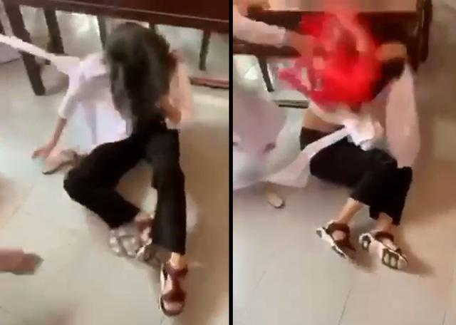 Tạm đình chỉ học tập 4 nữ sinh đánh nhau-1
