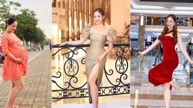 Từng tăng 18kg khi mang bầu, Lan Phương về dáng