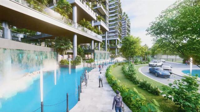 Dự án căn hộ tại Long Biên sở hữu hệ thống suối và thác nước liên hoàn hàng trăm mét-3