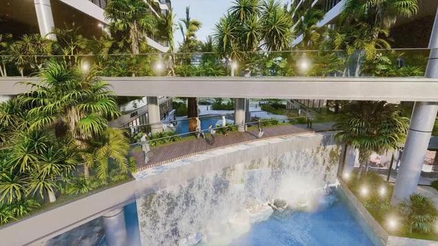 Dự án căn hộ tại Long Biên sở hữu hệ thống suối và thác nước liên hoàn hàng trăm mét-5