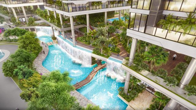 Dự án căn hộ tại Long Biên sở hữu hệ thống suối và thác nước liên hoàn hàng trăm mét-2