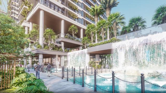 Dự án căn hộ tại Long Biên sở hữu hệ thống suối và thác nước liên hoàn hàng trăm mét-4