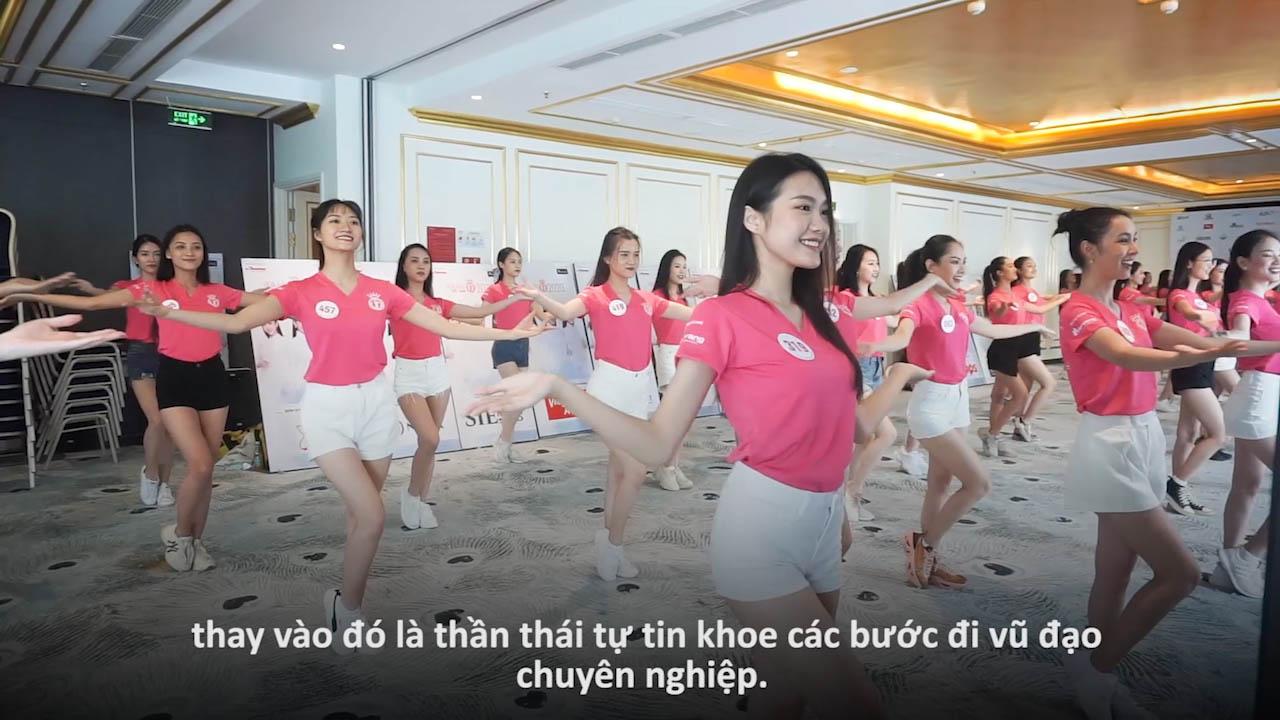 Những khoảnh khắc đẹp của thí sinh HHVN 2020 trên sàn tập vũ đạo