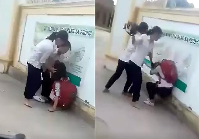 Nữ sinh lớp 8 bị đánh hội đồng ngay trước cổng trường vì chê áo mỏng-1