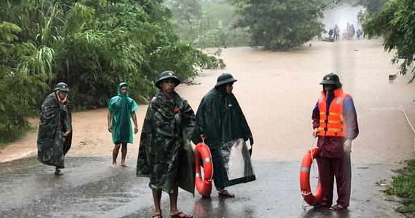 Quảng Trị cảnh báo nguy cơ lũ quét, sạt lở đất và ngập lụt diện rộng kéo dài
