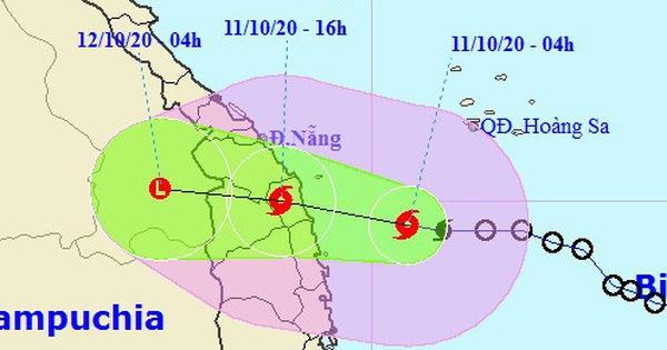 Bão số 6 sẽ đổ bộ các tỉnh từ Quảng Nam đến Bình Định