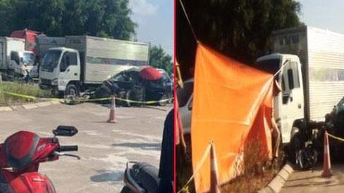 Tai nạn thương tâm: Nữ tài xế tử vong cùng con nhỏ, chồng và 2 con nữa bị thương nặng sau va chạm với xe tải