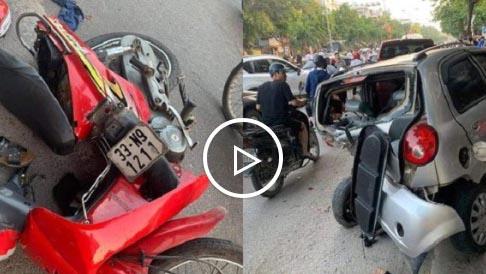 Nam thanh niên say rượu, lái ô tô tông 3 người thương vong