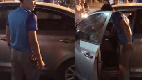 Clip: Bị bắt quả tang chở nhân tình trên ô tô, chồng hùng hổ lao xuống đấm đá cả vợ và người bạn đi cùng