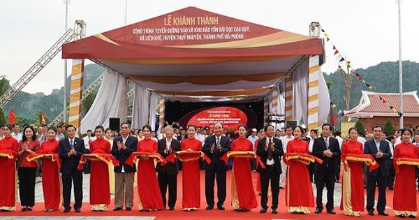 Thủ tướng Nguyễn Xuân Phúc dự lễ khánh thành tuyến đường vào, Khu bảo tồn bãi cọc Cao Quỳ Hải Phòng