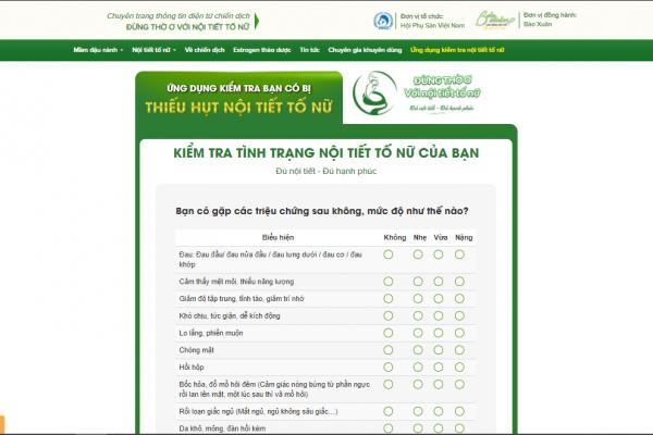 Lần đầu tiên ra mắt ứng dụng kiểm tra nội tiết tố nữ tại Việt Nam