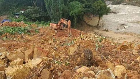 16 công nhân thủy điện Rào Trăng 3 có thể bị mất tích dưới lòng hồ