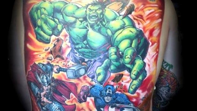 Loạt ý tưởng xăm hình siêu anh hùng