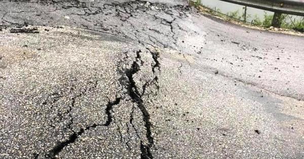 Nghệ An: Sụt lún nghiêm trọng ở con dốc dài và nguy hiểm