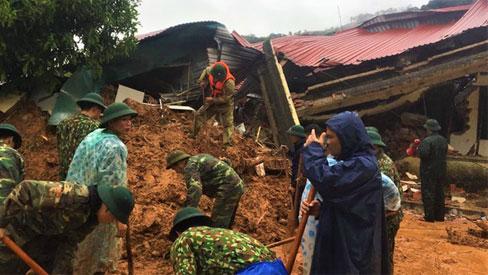 Danh sách 22 cán bộ, chiến sĩ gặp nạn trong vụ sạt lở núi tại Quảng Trị