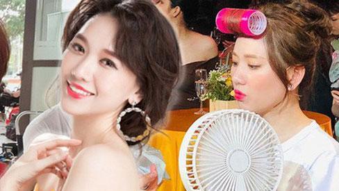 """Chẳng đến salon mà tóc mái Hari Won luôn bồng bềnh, hoá ra là nhờ """"vũ khí"""" giá rẻ"""