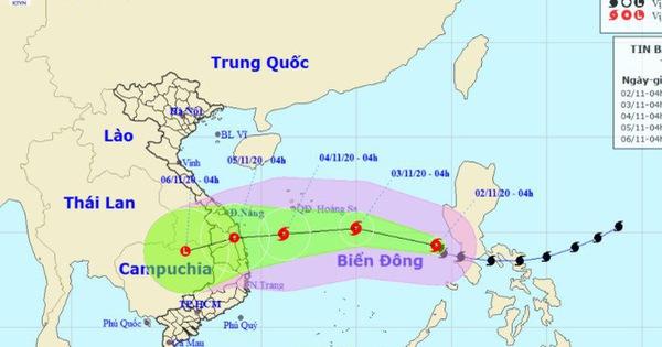 Bão Goni đã vào Biển Đông, mạnh cấp 9, giật cấp 12