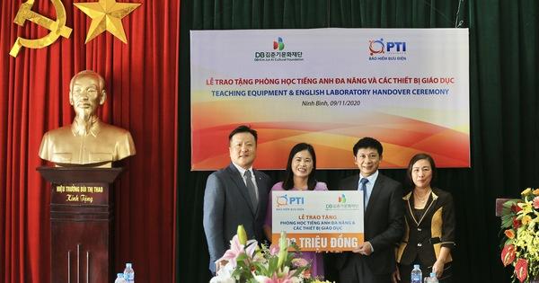 PTI bàn giao phòng học tiếng Anh đa năng, trao tặng thiết bị giảng dạy tại Ninh Bình
