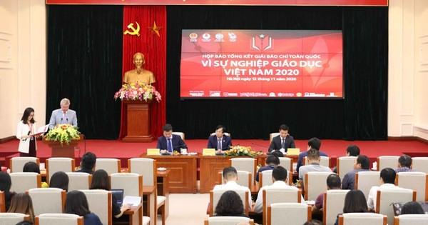 """50 tác phẩm đoạt Giải báo chí toàn quốc """"Vì sự nghiệp Giáo dục Việt Nam"""" 2020"""