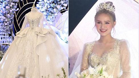 Cận cảnh chiếc váy lộng lẫy hơn 20 tỷ đồng của cô dâu 18 tuổi vợ streamer Xemesis