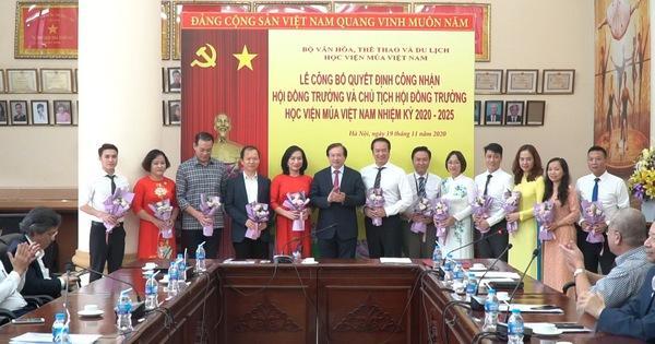 Công bố Quyết định công nhận Hội đồng trường Đại học Sân khấu - Điện ảnh Hà Nội và Học viện Múa Việt Nam