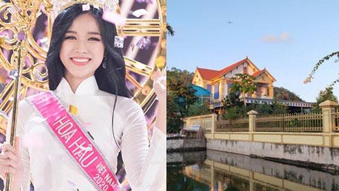 Cơ ngơi siêu rộng và hoành tráng của gia đình Tân Hoa hậu Việt Nam 2020 Đỗ Thị Hà tại quê nhà