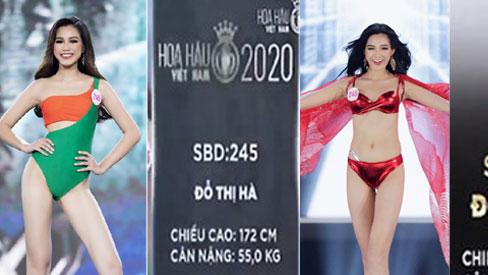 LẠ LÙNG: Số đo nhân trắc học của thí sinh Hoa hậu Việt Nam 2020 phồng xẹp bất thường qua 3 vòng thi