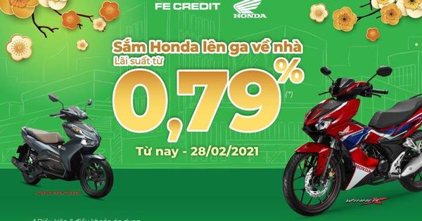 Sắm Honda lên ga về nhà với lãi suất từ 0,79%