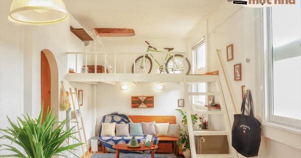 Designer trổ tài thiết kế căn hộ 20m2 đẹp như homestay, ăn tiền nhất là gác mái bao trọn cảnh thành phố