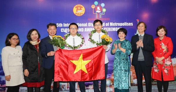Việt Nam đoạt 8 huy chương tại Olympic Quốc tế IOM lần thứ V
