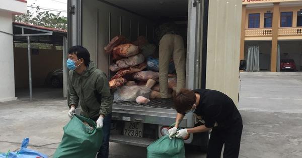 Ngăn chặn kịp thời hơn 2 tấn thịt lợn ôi thiu, bốc mùi
