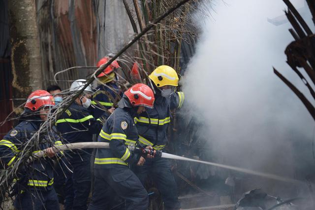 Hà Nội: Cháy khu nhà lán trọ cạnh chung cư Xa La-2