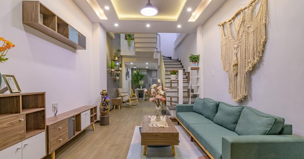Nhà phố 55m² đẹp hút mắt với thiết kế giếng trời mang thiên nhiên vào từng góc nhỏ ở Đà Nẵng