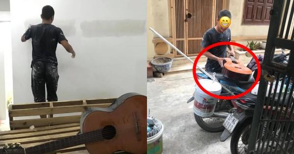 Thích cây đàn guitar cũ, anh thợ sửa nhà có cách