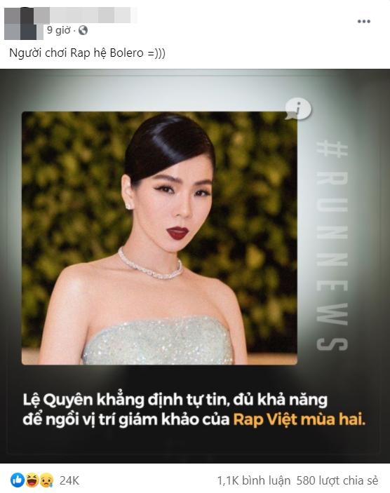 Netizen tranh cãi phát ngôn làm Giám khảo Rap Việt mùa 2 của Lệ Quyên, gọi nữ ca sĩ là bậc thầy của rap bolero-2