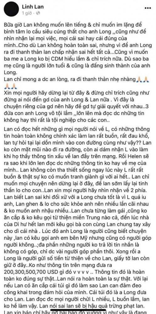 Vợ Vân Quang Long chính thức lên tiếng sau ồn ào: Không dám ra đường gặp ai, sợ con gái xấu hổ vì mẹ-4