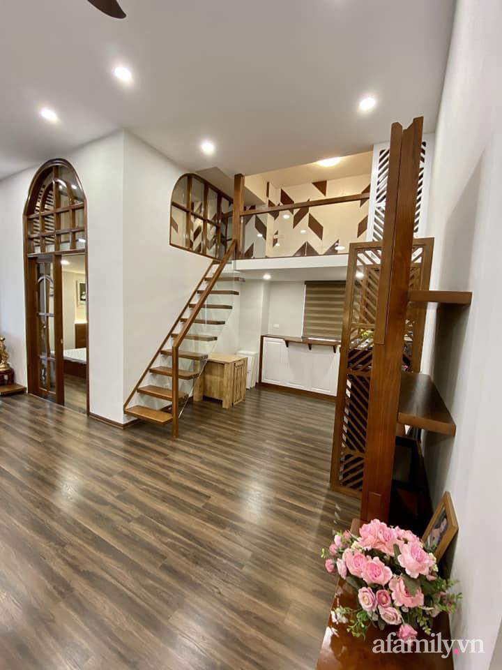 Căn hộ 85m² màu gỗ ấm cúng kết hợp khéo léo phong cách hiện đại và hoài cổ của con trai mua cho bố mẹ ở Hà Nội-9